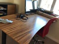 Desk and cupboard and chair