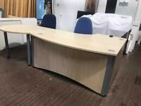 Maple Reception Desk with Extended Meeting Table