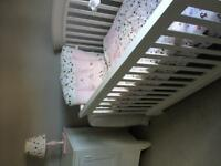 Girl's nursery crib set
