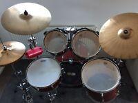 Tama Rockstar 5 Piece Drum Kit For Sale