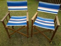 Wooden Garden Patio Set with 4 chairs