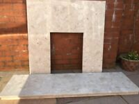Marble Hearth & Back Panel