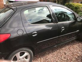 Peugeot 206 2.0 Hdi. Black. 5 door. 2005. 117,000 miles. MOT end Feb 2018