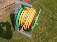80 Feet of Garden Hose pipe on a reel