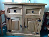 pine sideboard 2 door unit