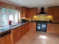Solid Wood Kitchen Units with Granite Worktop