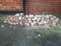 Crushed bricks/hardcore