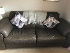 Brown Leather 3 Seater & 2 Seater