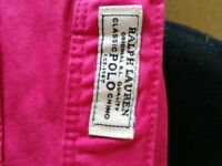 Girls trousers Ralph Lauren polo chinos pink 4/4T