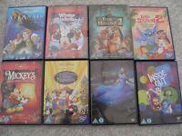 8 disney DVDs