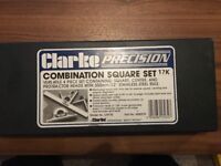 CLARKE COMBINATION SQUARE SET 17k- NEW BOXED
