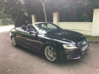 AUDI A5 S LINE TFSI CONVERTIBLE 2010 6 SPEED BLACK FULLY LOADED DRIVES THE BEST FSH 07398220137