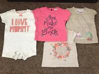 0-3 month baby girl summer clothes bundle