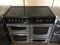Leisure Roma electric range cooker 100cm silver and black 3 months warranty free local delivery!!!!!