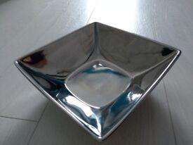 Square Silver Potpourri Ceramic Bowl