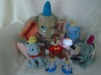 4 SOFT TOY DUMBOS 2 SMALL PLASTIC FIGURE DUMBOS 1 TIMOTHY MOUSE