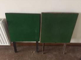 Two antique card tables in need of a little tlc