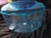 19 Litre tinted blue plastic fish tank!