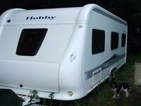 HOBBY PRESTIGE CARAVAN 650UMFE 2010 TWIN AXLE SLEEPS 5 in beautiful condition