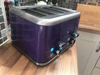 Brabantia Purple toaster 4 slice