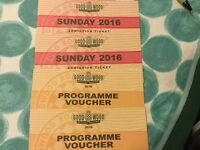 Goodwood Revival 2 General Admission Sunday tickets with programme vouchers