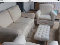 Laura Ashley Kendall Sofa, Sofa Bed and 2 Occasional Chairs