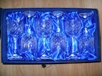 12 x Bohemia Crystal Wine Glasses