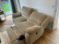 3 Seat reclining Sofa With 2 reclining Chairs