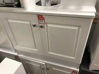 white under sink unit