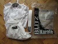 Blitz Adult Student Karate Suit GI Aikido - white with belt