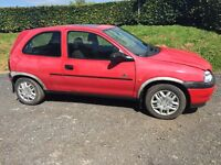 Vauxhall corsa red mot prepared CD player requires tax book £275 Moira area