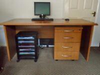 Desk and pedestal