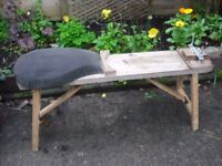 WORK BENCH WITH PADDED SEAT