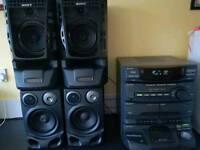 Sony speaker and player
