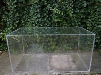 Clear Acrylic Box Coffee Table Plinth Installation Props Display Interiors 1m