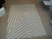 Lovely Large Dhurrie, Durry, Rug - 220 cm by 150 cm, 100% Cotton - Excellent condition, good as new