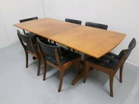 Danish Scandinavian style dining table extendable by Vanson mid century 60s