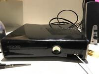 Xbox 360 Console with 2 controllers and many many games