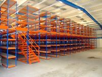 Heavy Duty Rapid Racking, Warehouse storage, Hundreds of Units TWO TIER AVAILABLE W/ STAIRS