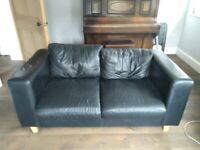 Black Leather Sofas 2.5 & 3 seater