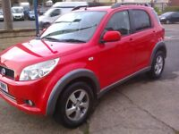 DAIHATSU TERIOS 1.5 SX. 07 REG. MK 2 LOW MILEAGE. RED 5 DOOR