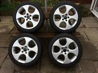 "VW genuine Golf GTi Monza 17"" alloys perfect condition with good tyres"