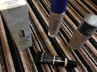 Various foundations and concealer shade beige and ivory