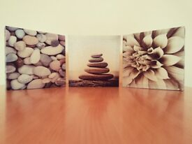 3 x SMALL CANVAS WALL ART PRINT IMAGE PICTURE PHOTO