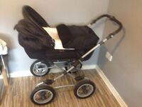 black silver cross pram for sale 15 sorry no car seat with it just what you see in the pic