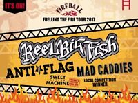 Reel Big Fish Gig, Anti-flag gig tickets - Fireball – Fuelling The Fire Tour - Balcony