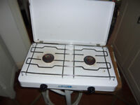 white camping cooker