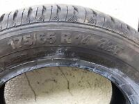Nearly new Continental 175/65/14 two tyres £35