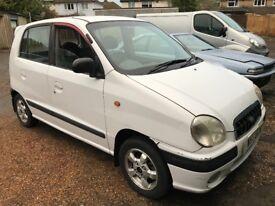 Hyundai Amica GSI 999cc Petrol Automatic 5 food hatchback W Reg 27/03/2000 White