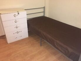 Used Aluminium Bed for sale - Collection Only - £30